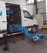 Monte démonte pneus compresseur autonome mobile - Elector-hydraulique S561 qui permet de traiter les jantes