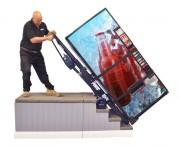 Monte-escalier électrique pour distributeur automatique - Capacité : 100 kg à 680 kg.