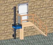 Monte matériaux 150 kg et 250 kg - Vitesse : 5,5 mètres / minutes
