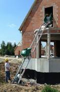 Monte matériaux chantier - Hauteur de travail maximale : 15,5 m - Charge utile 150 kg