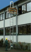 Monte matériaux de chantier aluminium pour aménagement - Charge utile : 150 kg - Vitesse de levage : 28 m/minute