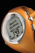Montre cardio orange - Double fuseau horaire -  Chronomètre