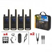 Motorola T82 Extreme Quad - Pack de 4 talkies walkies robustes IPX4
