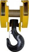 Moufle de pont à deux réas - Pour câble - Charge maximale utile (t) : De 5 à 25