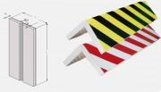Mousse de protection angle mur - Dimensions (L x l x P) mm : 400 x 150 x 15