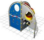 Multi jeux à grimper avec toboggan - Dimensions (L x P x H) cm : 323 x 165 x 300
