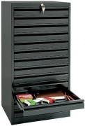 Multi-tiroirs pour dessinateurs A3 - Système de verrouillage central