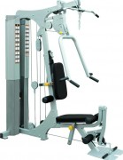 Multistation de musculation 4 postes - Quadruple charge automatique de 95 kg