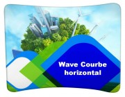 Mur d'image courbe horizontal - Format au sol : L 244, 295 ou 595 cm - Hauteur de 230 cm
