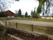Mur de clôture en bois