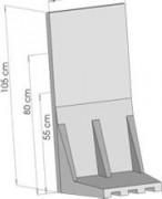 Mur de soutènement - Dimensions (H x P) cm : De 60 x 50 à 105 x 50