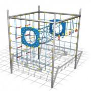 Murs d'escalade avec tunnel corde - Dimensions (L x P x H) cm : 258 x 258 x 300