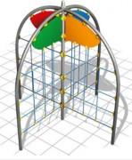 Murs d'escalade pour jardin - Dimensions (L x P x H) cm : 323 x 323 x 300