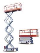 Nacelle automotrice ciseaux - Hauteur de travail : 8.1m - 9.9m. Capacité de charge : 408kg - 227kg