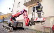 Nacelle automotrice sur chenilles pour travail dans les pentes - Autonivelante