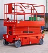 Nacelle ciseau grande hauteur - Hauteurs : 10, 12 et 14 m - Capacités : 300 et 450 Kg - Ciseaux électriques