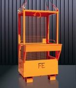 Nacelle de travail grillagée - Capacité charge (Kg) : 660