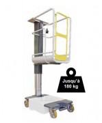 Nacelle élévatrice électrique 180 kg - Charge maximum (Kg) : 180