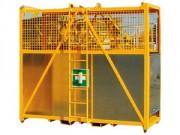 Nacelle secours de chantier - Plancher de secours antidérapant tôle gauffrée ép. 3 mm