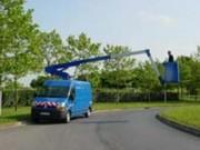 Nacelle sur véhicule 3T5 (VL) 120 Kg - Hauteur de travail 11 - 12.50m