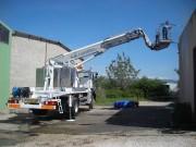 Nacelle sur véhicule 3T5 (VL) hauteur 20,20 m - Hauteur de travail de 20.20 m - Rotation 360°