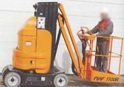 Nacelle télescopique à mât - Hauteur de travail : 11 m