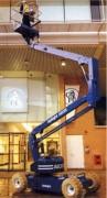 Nacelles avec bras déployable - Déport de travail 6.10m en passant au dessus d'un obstacle de 5.40m