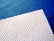 Nappe de table blanc Gauffré - Nappes papier Blanc 30x40 cm - 60x60cm