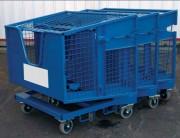 Navette à déchets en tôle - Charges admissibles : 300 kg