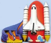 Navette spatiale gonflable avec Toboggan