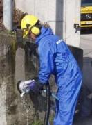 Nettoyage de mur en béton - Bâtiment et rénovation