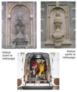 Nettoyage de sculpture - Tech 17 L. HP - Granulats AF 180