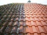 Nettoyage de toiture par jet - Contre l'apparition de mousses, lichens ou algues