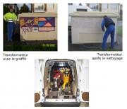 Nettoyage des graffitis - Tech 17 L. HP