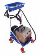 Nettoyeur vapeur sur chariot - Réservoir d'eaux usées : 15 litres - Taille (cm) : 27 x 32 x 34