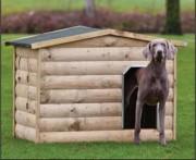 Niche chien en bois - En sapin imprégné - L118,5 cm x P86 cm x H93 cm