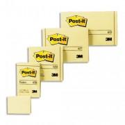 Notes post-it Bloc de 100 feuilles 76 x 127 mm jaune. - Post-it®