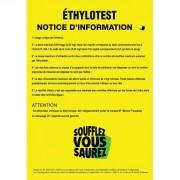 Notice d'utilisation éthylotest - 2 bandes adhésives
