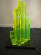 Oeuvre plexiglas fluo - Transparence 92 % - Créativité