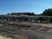 Ombrière parking professionnel en acier galvanisé - Résistante NEIGE et VENT (norme NV 65)