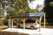 Ombrière photovoltaique 10 voitures en acier - Nombre de places minimum : 10 places de voiture ou camions possibles