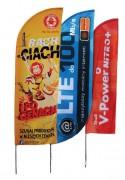 Oriflamme imprimée classique - Imprimé au recto - Maille drapeau ignifugée - Hauteur au sol : de 2,20 à 6,7 m