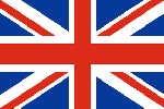 Oriflamme Royaume Uni - Equipé d'une traverse en bois et d'une drisse de suspension