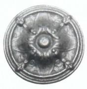 Ornement pour cheminée en fonte diamètre 10 cm - Modèle Rosace R22 - Réf. 064460