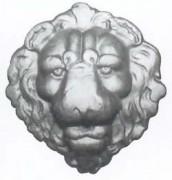 Ornement pour cheminée en fonte diamètre 35 cm - Modèle Tête de Lion