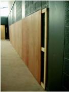 Ossature bois pour miroirs - Avec plaques de contreplaqué