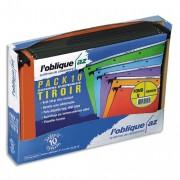 Pack 10 dossiers suspendus azo kraft orange pour tiroir fond v K0200040 - L'Oblique AZ