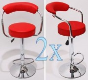 Pack 2 Chaises de bar - Dimensions Assise Ø35 x H23 cm
