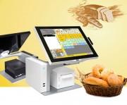 Pack caisse enregistreuse tactile boulangerie - Terminal tactile 15'', plat, sans bord Ecran LED