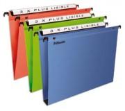 Pack de 10 dossiers suspendus PREMIUM opaque, fond 15 tiroir bleu - Esselte